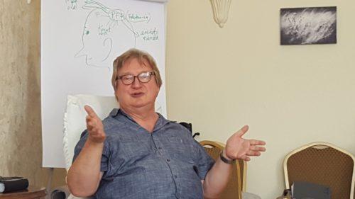 """Dr. Gyula Biró teaching the """"Six-Step Reframing"""" NLP technique"""